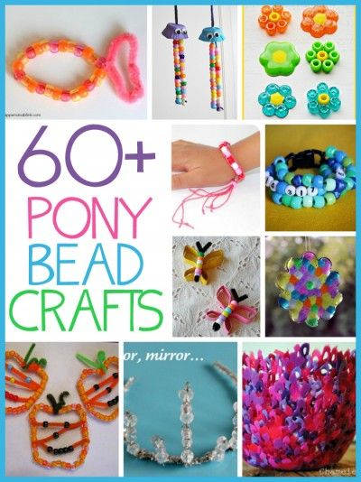 60+ Pony Bead Crafts - Fun Family Crafts                                                                                                                                                                                 More