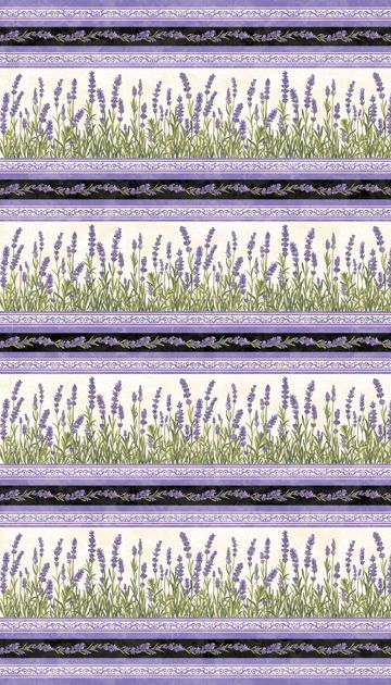 20295-11 (Oversized Repeat) - Fabric from Lavender Market Designed by: By Deborah Edwards Northcott Studio
