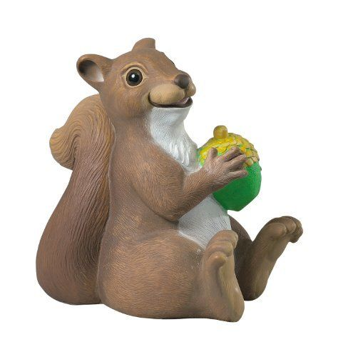 Kay Home Product Woodland Friends Statuary, Squirrel by Kay Home Products. $11.12. Perfect for any yard or garden. Realistic eyes. Filled for added weight and stability. Material resists breakage. Made of durable all weather material. Kay Home Product's beautifully crafted Woodland Friends Squirrel outdoor sculpture is made of durable, all-weather, material and resists breakage. Squirrel is filled for added weight and stability. This squirrel statuary has realistic eyes. Perfect...