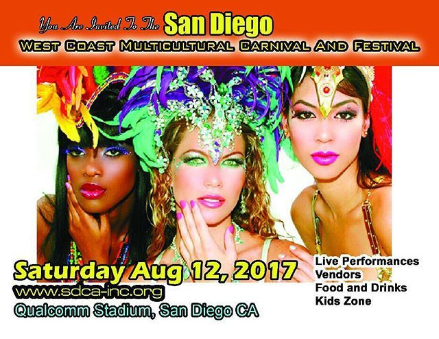 Tell all you're friends & family to  come celebrate life  On August 12 2017 San Diego West Coast Multicultural Carnival & Festival  #sandiego #california #hollywood #losangeles #sanfrancisco #sacramento #fresno #bayarea #oakland #santamonica #santabarbara #santacruz #santafe #la #hollywoodcarnival #carnival #festival #caribbean #multicultural #lajolla #delmarfair #delmar #oceanbeach #pacificbeach #northparksd #sdsu #usd #ucsd #usc #ucla #lajollalocals #sandiegoconnection #sdlocals - posted…