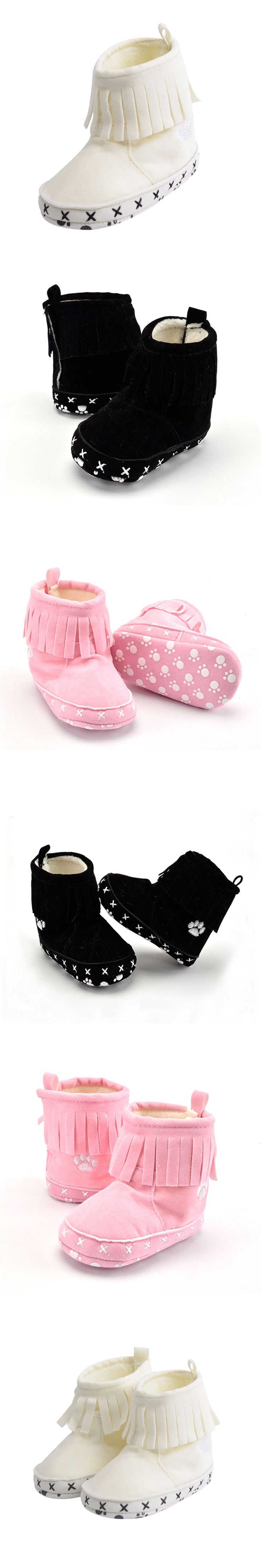 Baby Toddler Girls Boys Winter Warm Snow Boot Tassels Trimmed Moccasin Boots Outdoor Baby Boy Girl Infant Shoes First Step