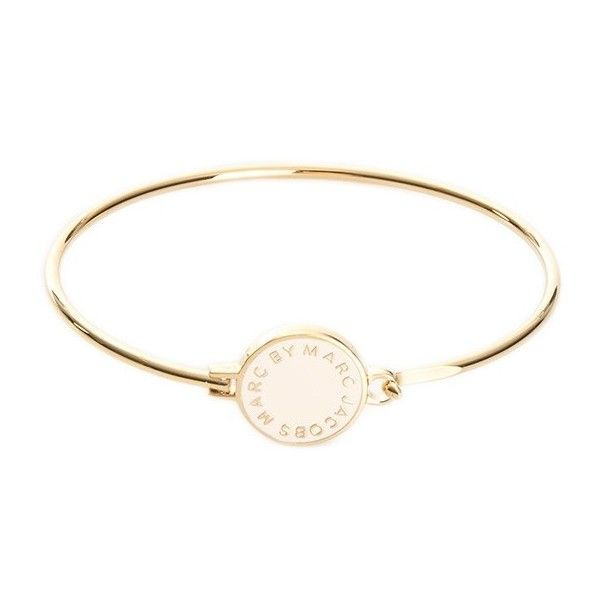 Marc by Marc Jacobs Bracelet ❤ liked on Polyvore featuring jewelry, bracelets, bangle bracelet, bracelets & bangles, gold tone jewelry, marc by marc jacobs and hinged bracelet
