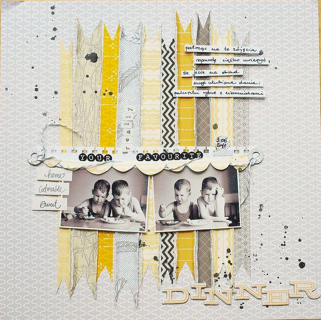 CONCEPT: layout. J aime le fond gris et jaune avec les photos noires et blanches. A une seule photo plus grande serait plus belle :)