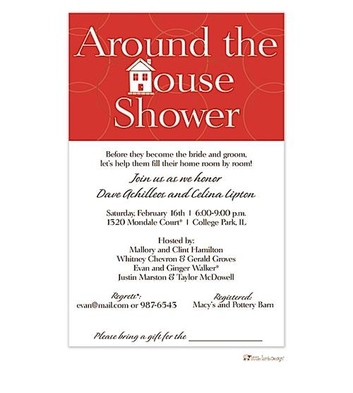 around the house shower invitation