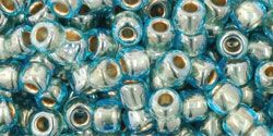 As low as $1.67 #TR06-990/c #TOHO Seed Bead Round 6/0 Gold-Lined Aqua.