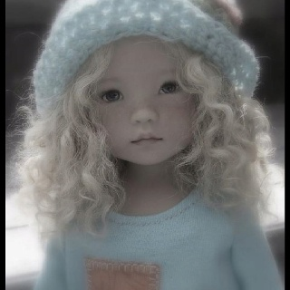 """Kinzie by Dianna Effner (13"""" vinyl studio doll) In a terrific one of a kind fashion by MEG designs."""
