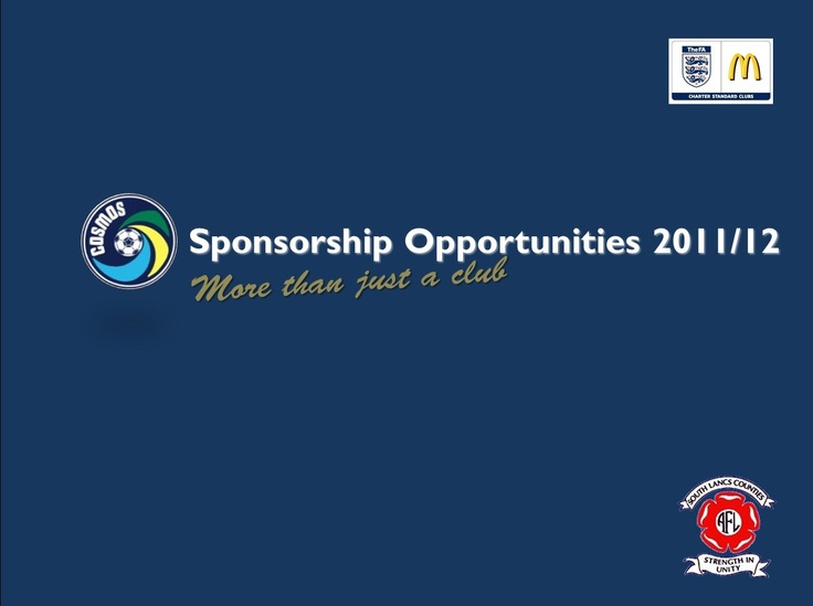 Get Involved and sponsor Wigan Cosmos Football Club