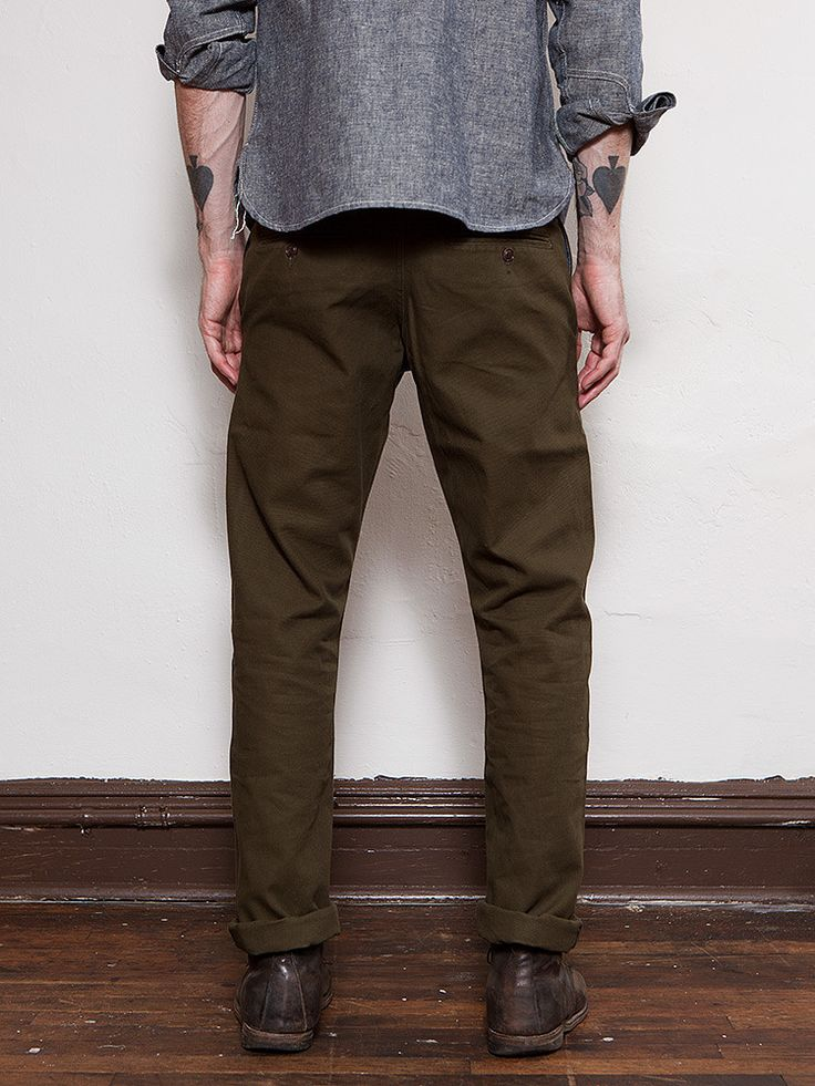 Preorder Olive Japanese Duck Miner Chino one wash expected delivery 8/20