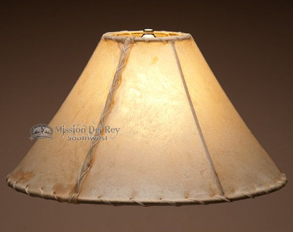 16 rawhide lamp shade by on etsy - Lamp Shades For Table Lamps
