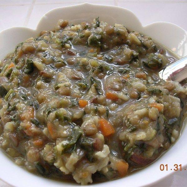 Lentil soup, Lentils and Spinach on Pinterest