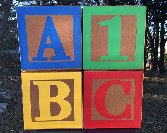Sesame Street Birthday Party Centerpiece Large ABC Blocks and