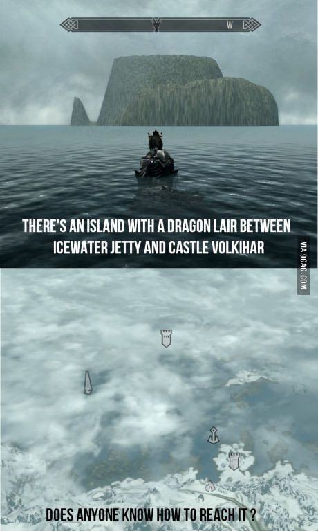 Can't reach it by swimming (Skyrim dawnguard dlc) You have to disable work borders to get there