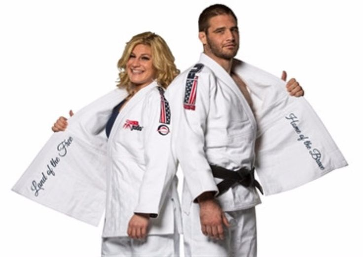 FUJI Sports USA Judo Double Weave Gi. FUJI Sports USA Judo Double Weave Gi  Judo Gi                  The USA Judo Gi made by FUJI Sports is for every American Judoka who wishes to train and compete in comfort while representing the United States in style.                 Each gi features the official USA Judo logo embroidered on the left chest and beautiful embroidered epaulets with a patriotic USA , American Flag, and Fuji embroidery.                 The ribbons on the inside of...