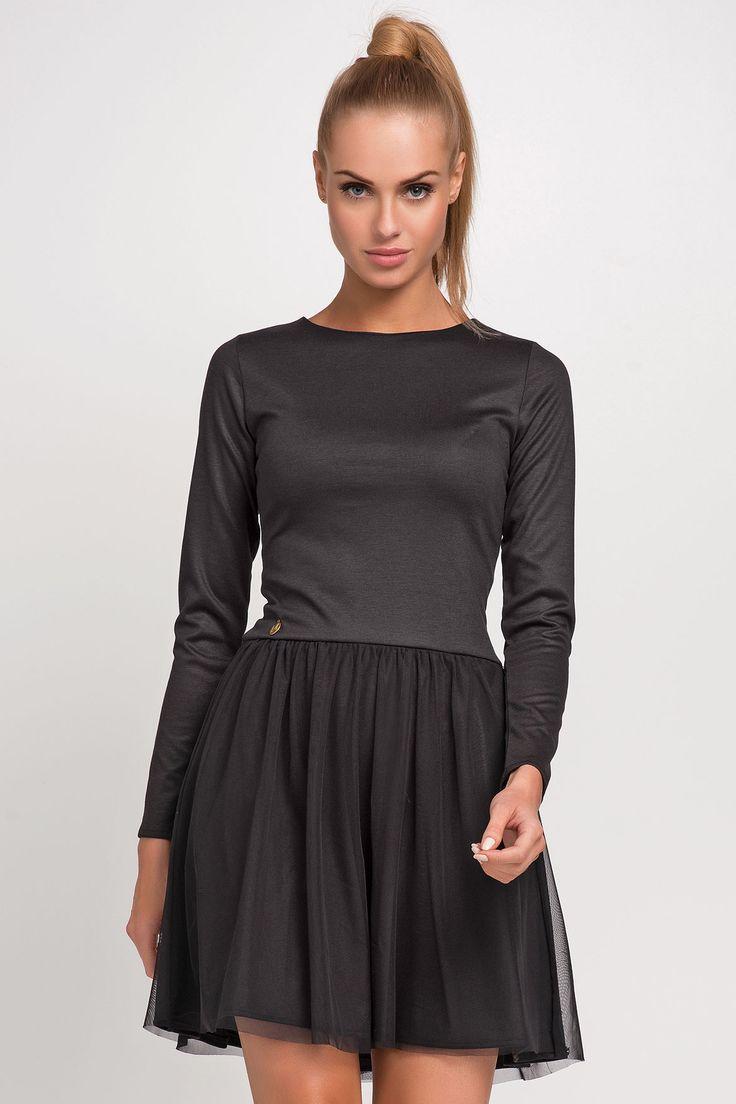 Makadamia M231 Sukienka - czarny
