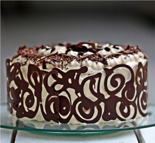 Coffee and Vanilla Bean Layered Cake