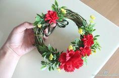 어버이날 스승의날 /펠트 꽃/카네이션 만들기/카네이션 리스 만들기  Felt flower/carnation wreath
