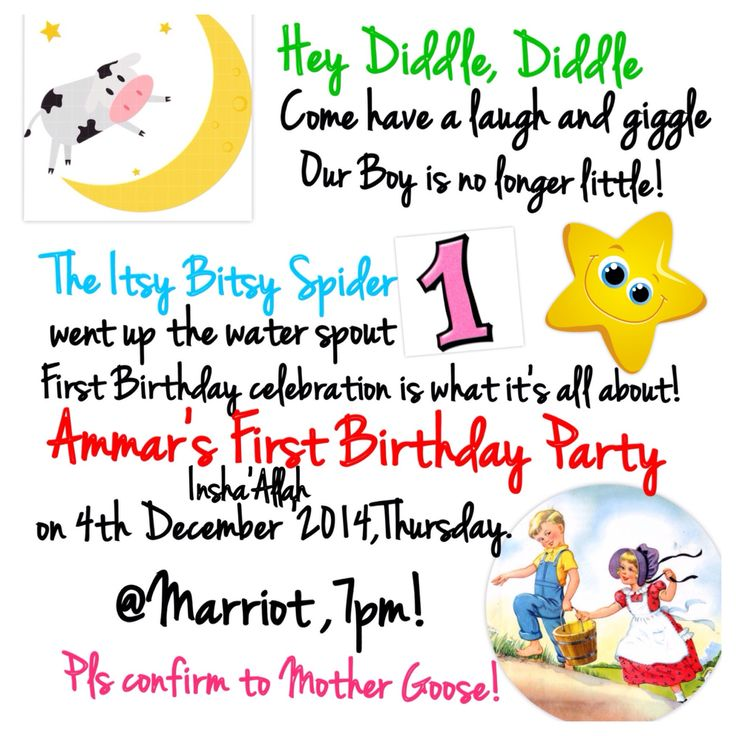 First Birthday Party- Theme