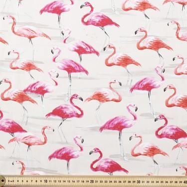 Flamingos Fabric Stone 150 cm