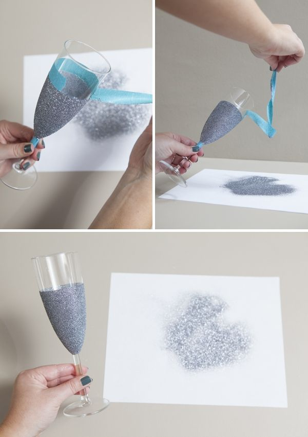 DIY | glittered glassware » Something Turquoise {ideas for the DIY bride}