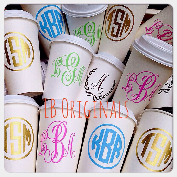 Monogram Coffee to go! http://www.pinterest.com/SratStylista/ Get Free Domain on http://cp.cx