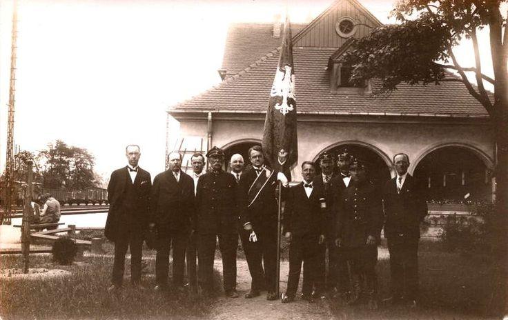 Dworzec kolejowy, Żyrardów - 1930 rok, stare zdjęcia