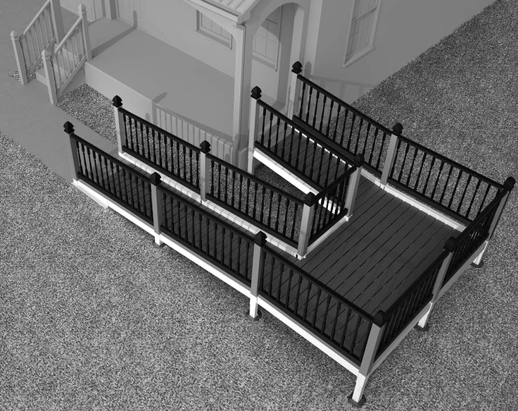 DIY accessibility ramp!  Aluminum and steel substructure customizable with standard decking materials and railing systems.  Coming Fall 2012