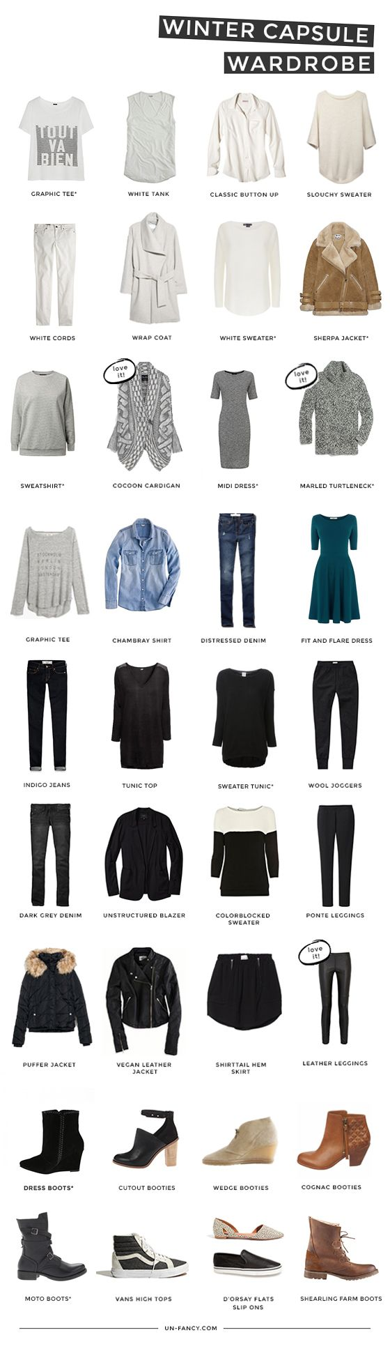 Unfancy Winter Capsule Wardrobe 2015 - my winter capsule wardrobe
