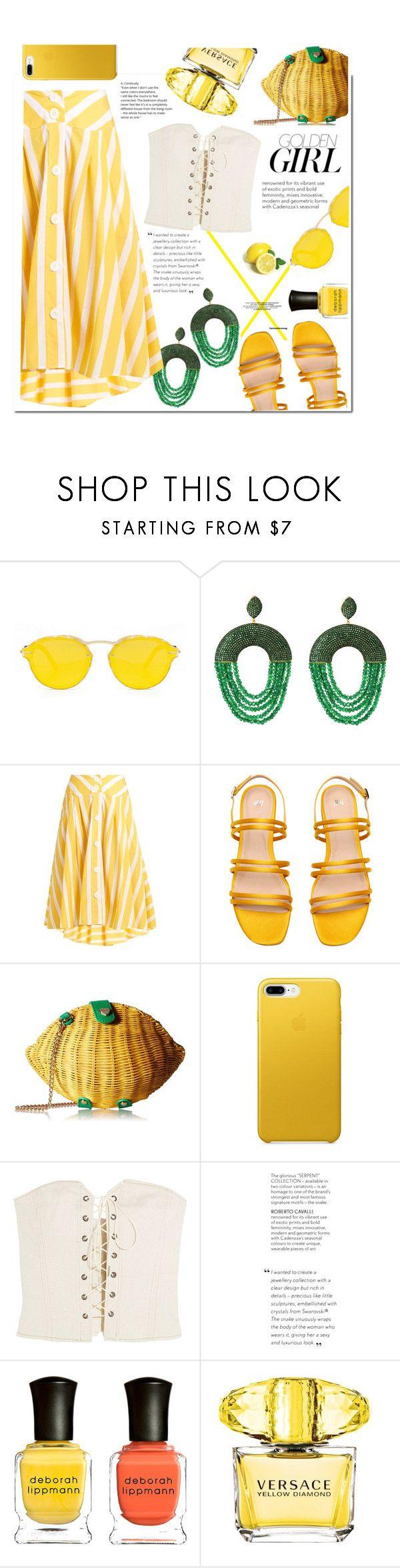"""Lemonade"" by swweetalexutza ❤ liked on Polyvore featuring Thierry Colson, Betsey Johnson, Isabel Marant, Murphy, Deborah Lippmann and Versace"