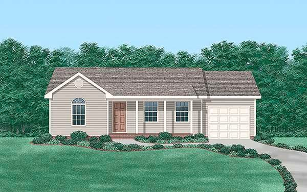 Plan No.650368 House Plans by WestHomePlanners.com | 2 bed, 863 sf