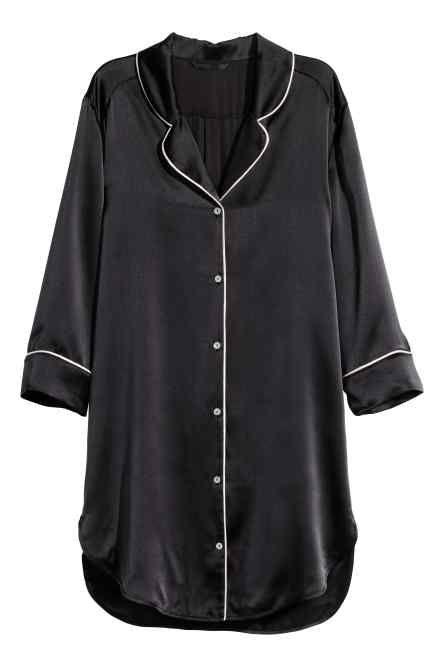 Chemise de nuit en soie