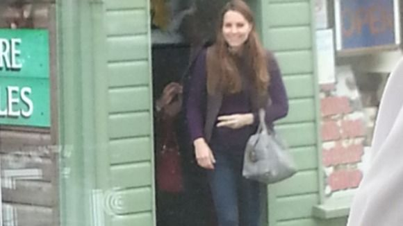 Kate shopping in Holt Norfolk 4.13.13