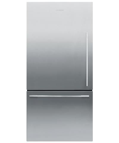 RF170WDLX4 Fisher Paykel ActiveSmart Fridge - Left Hinge - 17 cu. ft. Counter Depth Bottom Freezer Refrigerator - EZKleen Stainless Steel