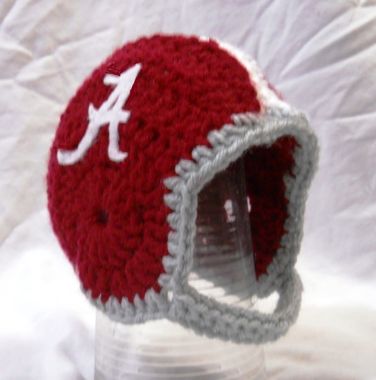 Free Crochet Pattern For Helmet Hat : Crochet Alabama baby football helmet hat Baby Gabe ...