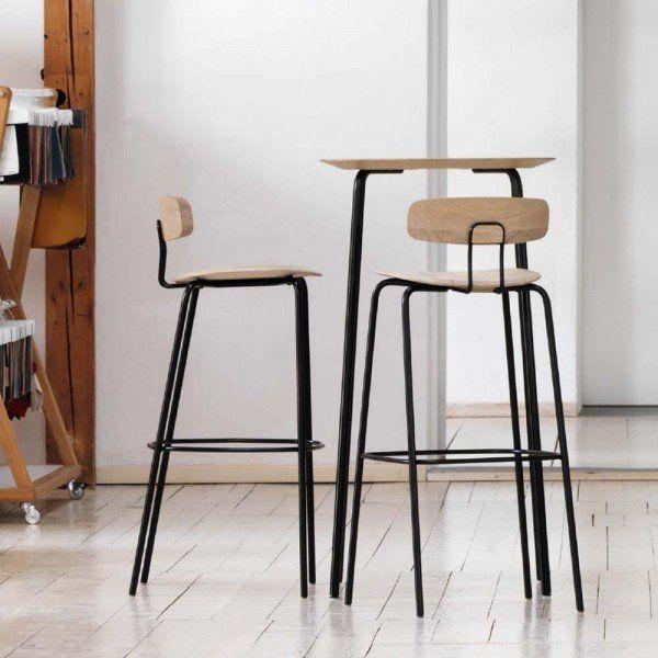 Zeitraum Barstuhl Okito Holz Metall Schwarz Natur Schwarz Barstuhle Stuhle Regal Design