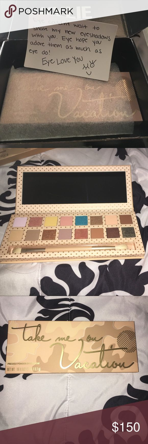 Vacation palette - Kylie Jenner BRAND NEW!!! Right out of the box. SOLD OUT ON HER WEBSITE!! girls, I know you want this beautiful palette. I caved in and bought one for myself. Treat yourself too! It's perfect for the summer and the colors work so well 😭😍 Kylie Cosmetics Makeup Eyeshadow