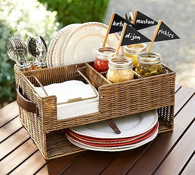 Outdoor Party Caddy #potterybarn