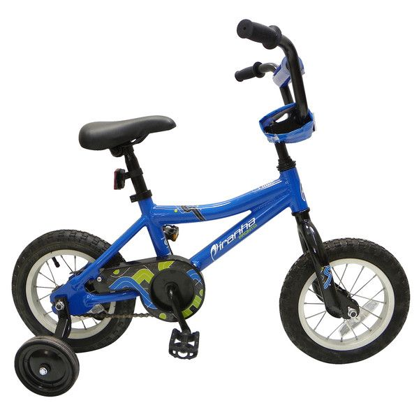 Piranha Pronto Kid's Bike, 12 inch Wheels, 10 inch Frame, Boy's Bike, Blue