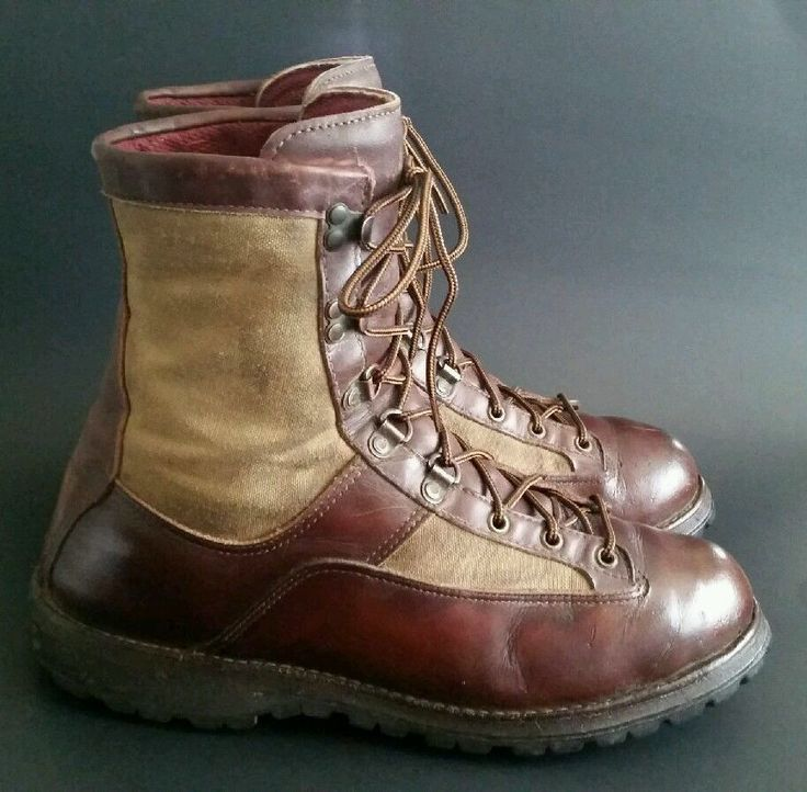 Vtg danner sierra brown leather goretex boots work hunting hiking size 11.5d usa