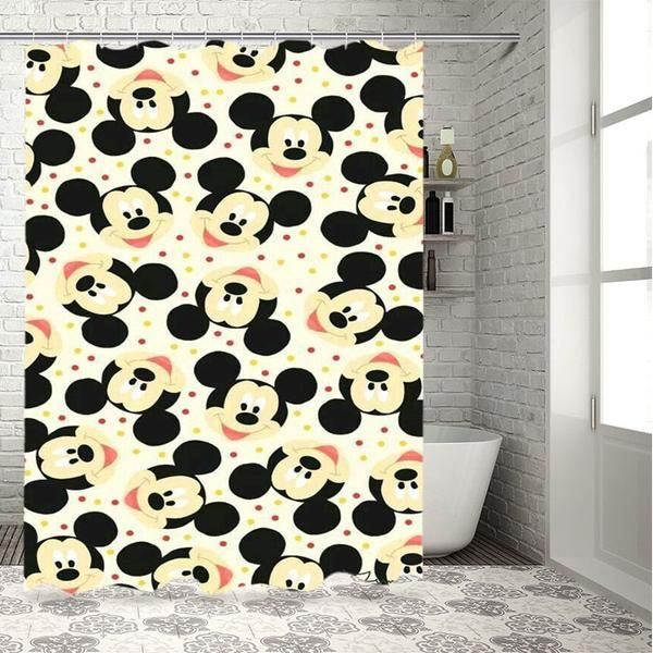 Mickey Mouse Disney Pattern Shower Curtain Babyshark Co