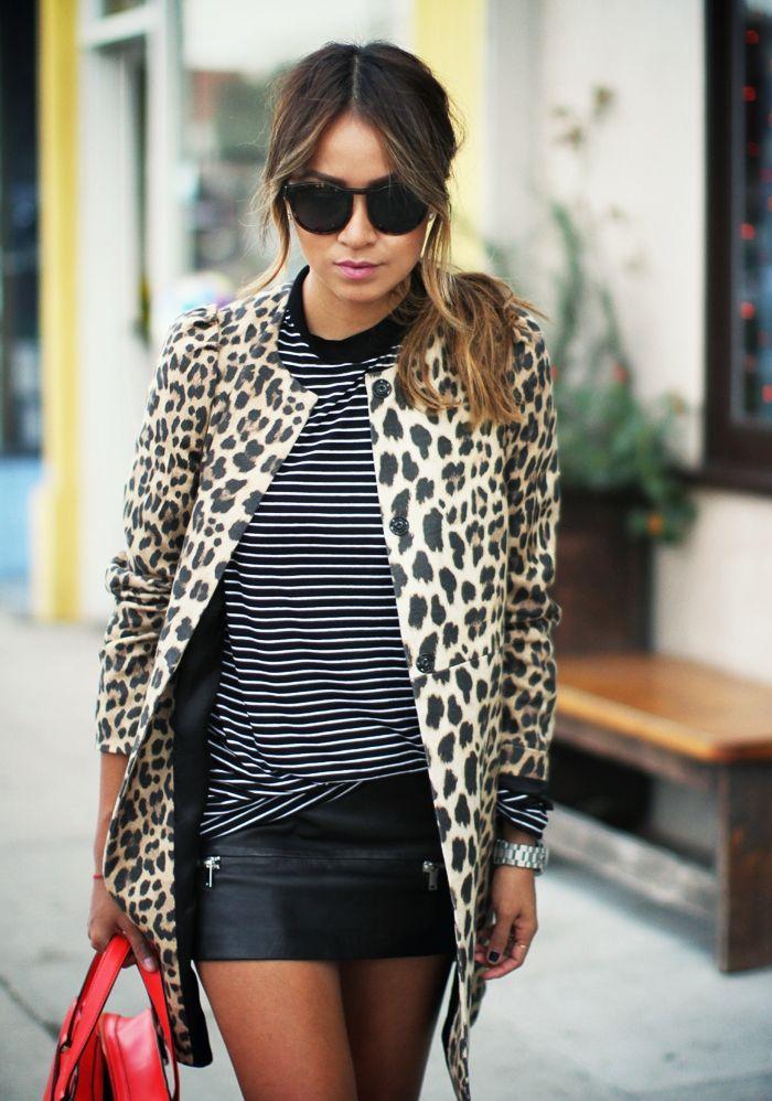 Listras e onça por Camila Coutinho em dezembro 3, 2013 #stripes #animalprint #mix