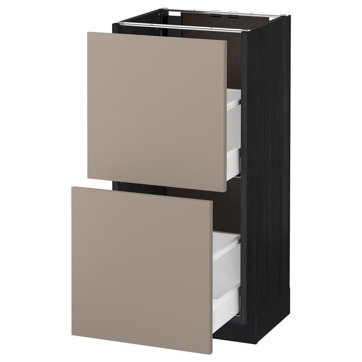 METOD / MAXIMERA, Unterschrank mit 2 Schubladen, schwarz, dunkelbeige Jetzt bestellen unter: https://moebel.ladendirekt.de/bad/badmoebel/unterschraenke/?uid=3795d576-9845-5287-9ceb-3eef4d2b9eb4&utm_source=pinterest&utm_medium=pin&utm_campaign=boards #unterschraenke #bad #badmoebel