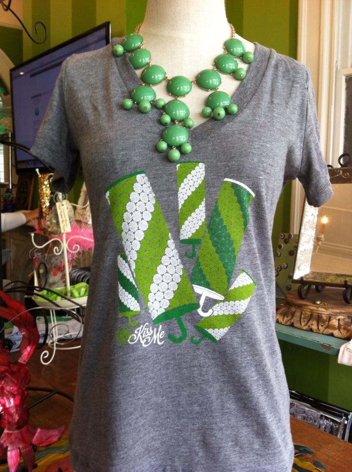 St. Patrick's Day Flower Cane Tee