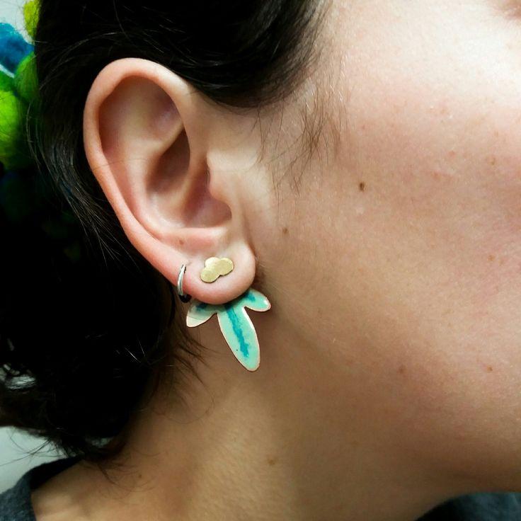 """""""Faith"""" earjacket earrings"""