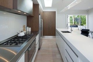 Kitchen in a small space - contemporary - kitchen - auckland - by Suzanne Allen