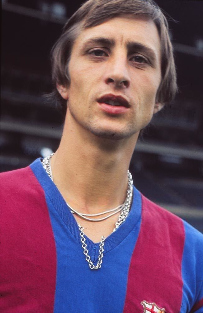 Johan Cruyff, the Dutch soccer player and trainer of the C.F.Barcelona in the 70s, 1977, Barcelona, Spain.  January 01, 1977