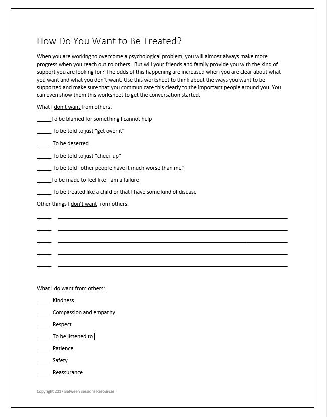 Download grief therapy worksheets for teens at Between ...