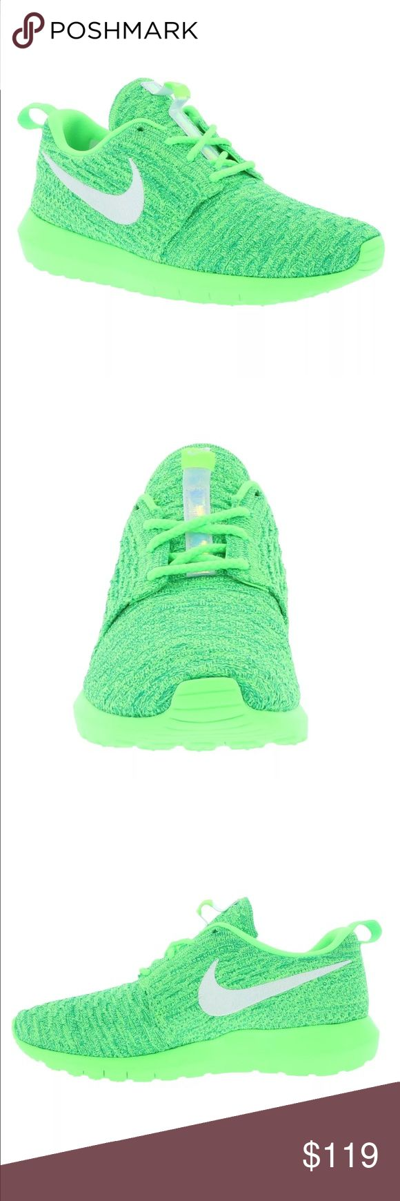 BRAND NEW! ❤ ROSHERUN ROSH ROSHE FLYKNIT NEON SHOE New! ❤❤❤ Nike Shoes Athletic Shoes
