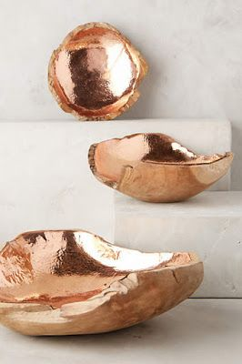 Gold bowls for a desk... Though will it invite clutter?