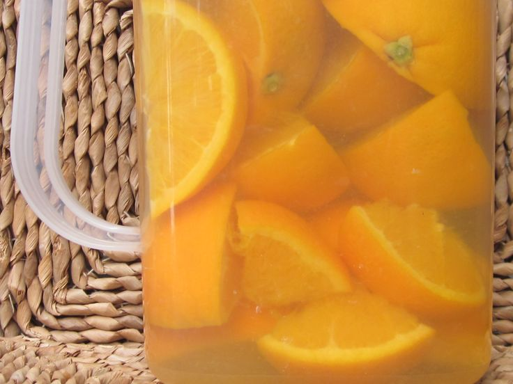 General purpose cleaner - oranges soaked in white vinegar for two weeks, diluted with water and then spritz to use.
