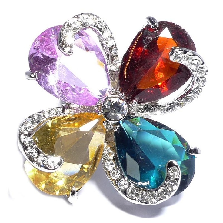 Butler & Wilson 4 Colour Crystal Ring